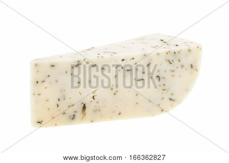 Goat cheese isolated on white background. close up