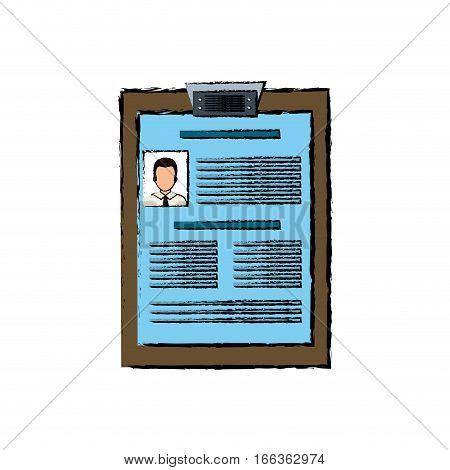 Business curriculum vitae icon vector illustration graphic design