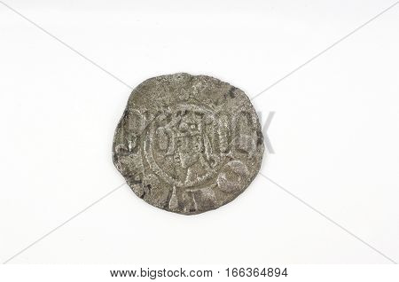 Dinero Jaume I Spain Coin isolated on white