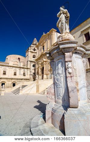 Church Of Saint Francis Immaculate In The Noto, Sicily, Italy