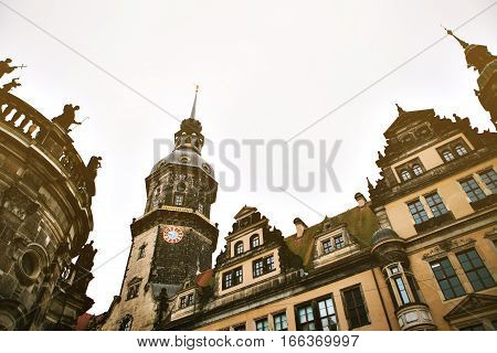 Dresden Castle in the city center of Dresden in Germany. It is also called Royal Palace