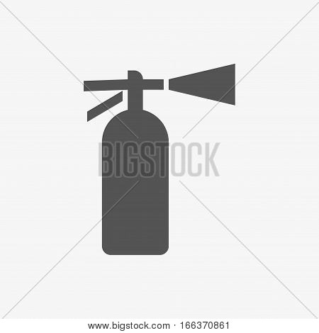 extinguisher icon  stock vector illustration flat design