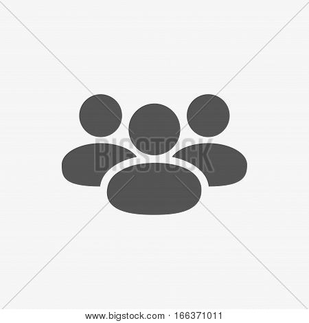 People icon  stock vector illustration flat design
