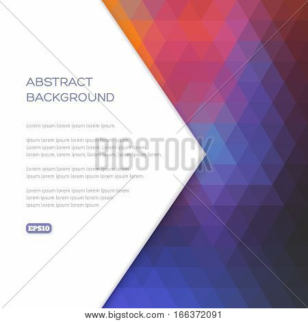 Abstract Background Of Geometric Shapes In Contrasting Colors.