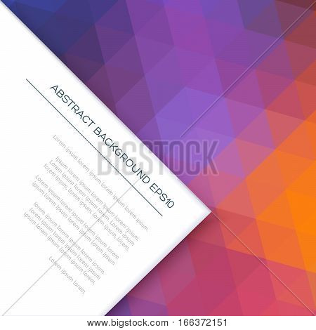 Abstract Original Background With Colored Geometric Shapes.
