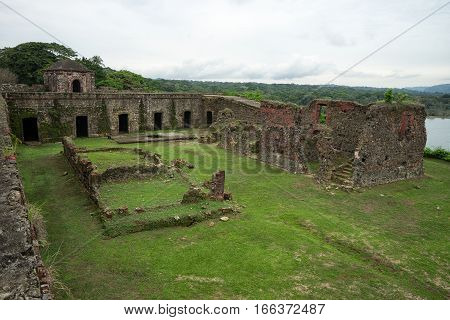 June 10 2016 Colon Panama: the ruins of fort San Lorenzo a world heritage site