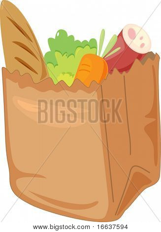 illustration of vegetables in abox