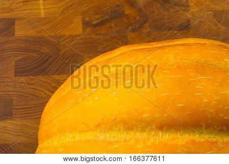 still life - ripe juicy Ethiopian melon on wooden background