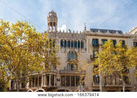 The Casa Lleo Morera. Passeig De Gracia, Barcelona, Spain.