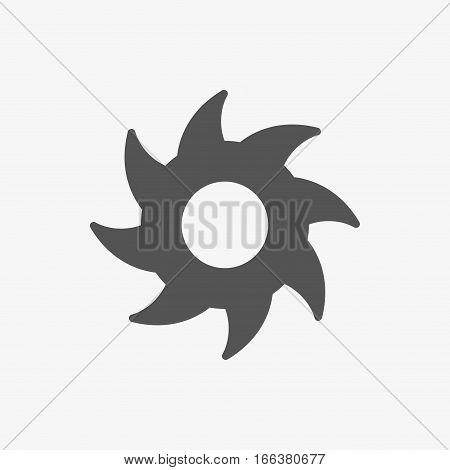 circular saw icon stock vector illustration flat design