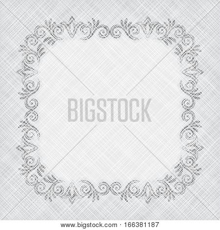 vintage background with floral frame - vector illustration