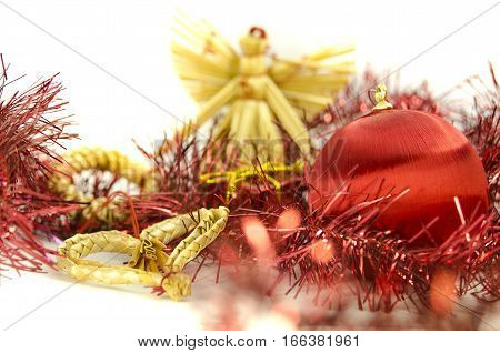 Christmas decoration with natural heart and angel