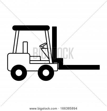 forklift machine logistic icon vector illustration design