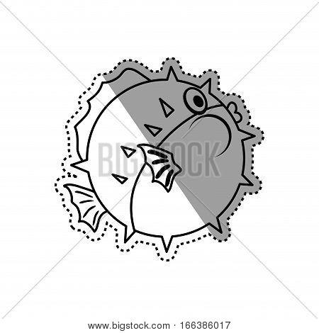Sea fish animal icon vector illustration graphic design