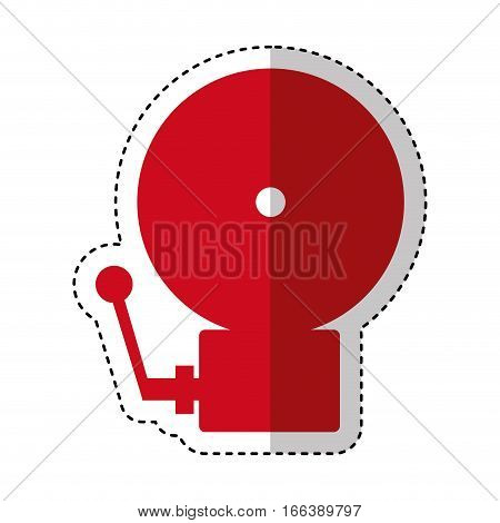 fire alarm isolated icon vector illustration design