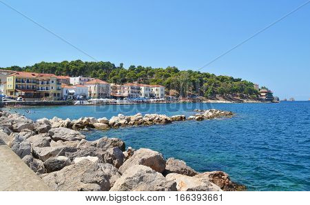 PYLOS PELOPONNESE GREECE, AUGUST 14 2015: landscape of Pylos Peloponnese Greece. Editorial use.
