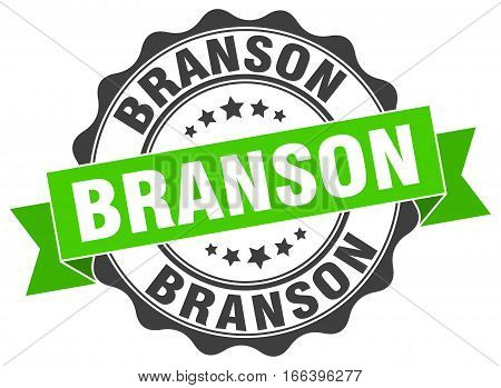 Branson. round isolated grunge vintage retro stamp