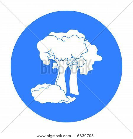 Paintball playing field icon in outline design isolated on white background. Paintball symbol stock vector illustration. - stock vector