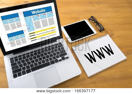 Www Website Online Internet Web Page Computer Browser Connection Network Concept