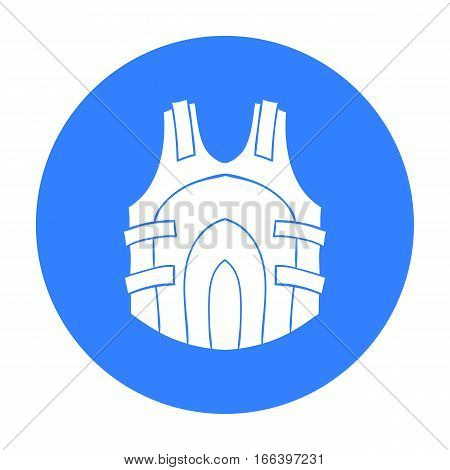 Paintball vest icon in outline design isolated on white background. Paintball symbol stock vector illustration. - stock vector
