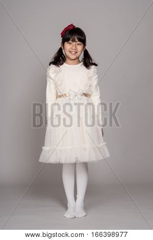 Teenage Asian Girl Child Studio Portrait Shoot - Isolated