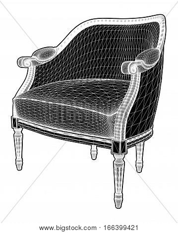 Antique Armchair Vector 21.eps