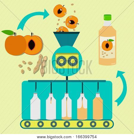 Peach And Soy Juice Fabrication Process