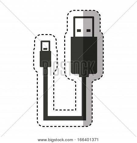 usb cable connection icon vector illustration design