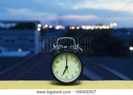 The Alarm clock in the Morning of city