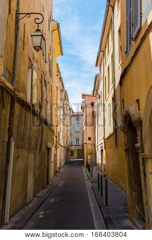 Road With Old Buildings In Aix-en-provence