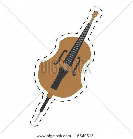 cello orchestra classic music dotted line vector illustration eps 10