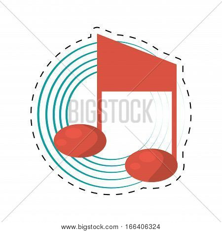 quaver note musical dotted line vector illustration eps 10