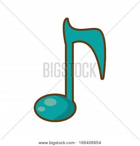 cartoon note musical melody sound vector illustration eps 10