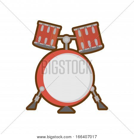 cartoon drum kit precussion musical vector illustration eps 10
