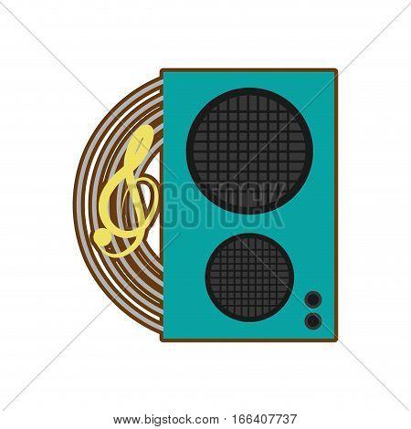 cartoon speaker baffle audio music vector illustration eps 10