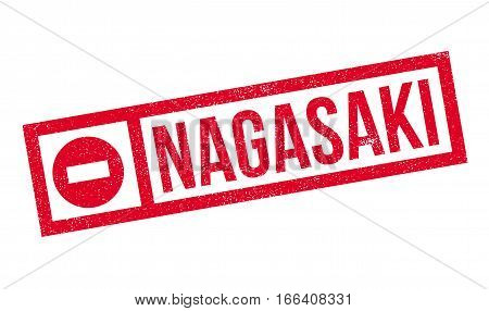 Nagasaki rubber stamp. Grunge design with dust scratches. Effects can be easily removed for a clean, crisp look. Color is easily changed.