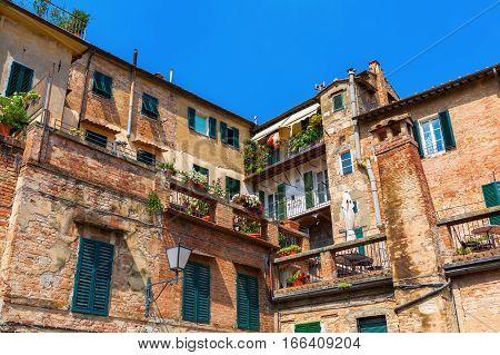 Old Buildings In Siena, Italy