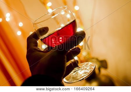cheers with glass of rose wine, celebrate