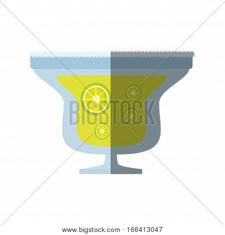 alcoholic cocktail popular bar lemon slice shadow vector illustration eps 10