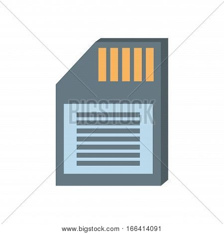 memory sd card back icon vector illustration eps 10