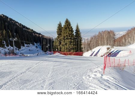 At The Bifurcation Of The Ski Slopes