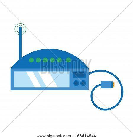 router internet connection modem usb cable vector illustration eps 10