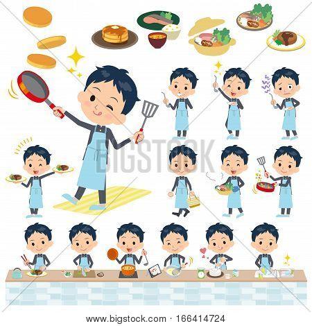 School Boy Gakuran Cooking