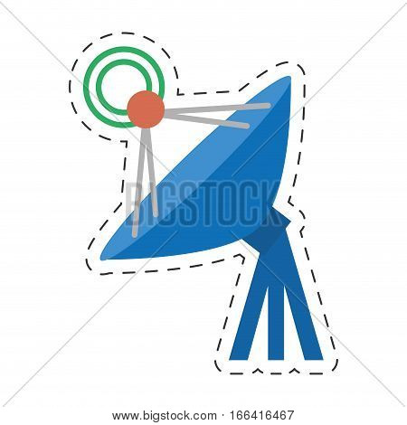 antenna dish radar technology internet vector illustration eps 10