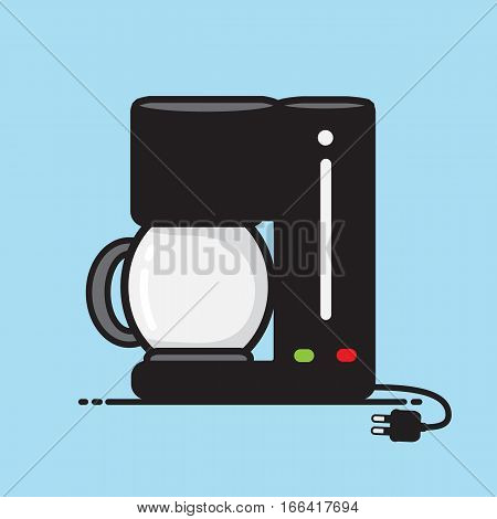 Coffee maker vector Appliances in the kitchen design .