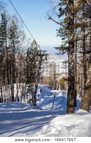 Ski Lift In The Ski Resort