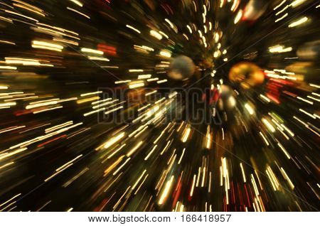 motion blur and zoom effect Christmas Tree Decoration