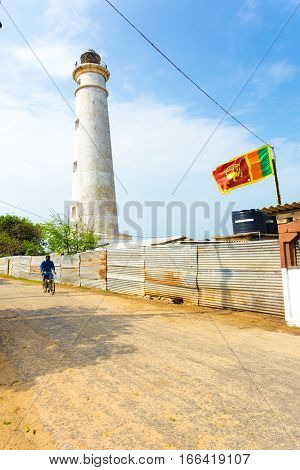 Jaffna Point Pedro Lighthouse Bicyclist Road