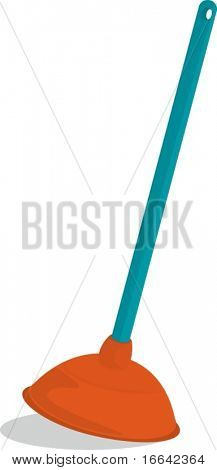 Illustration of A Vaccuming Item on white background