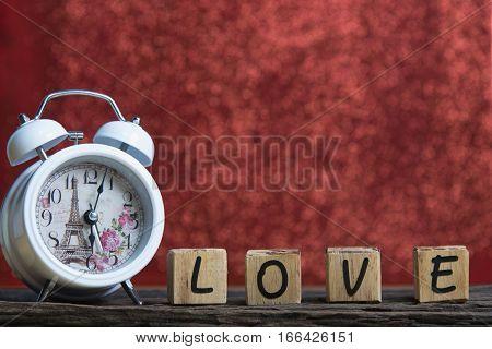 Letters Spelling Love. Wooden Letters Spelling Love